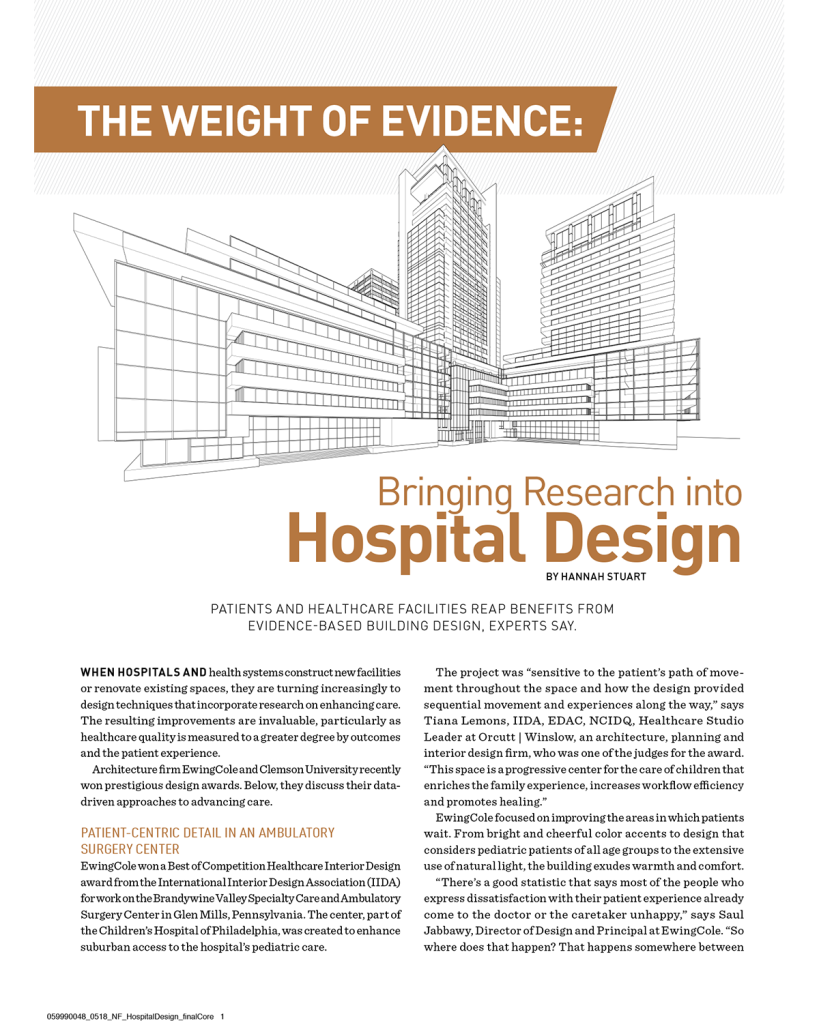 Bringing Research into Hospital Design by Hannah Stuart for True North Custom