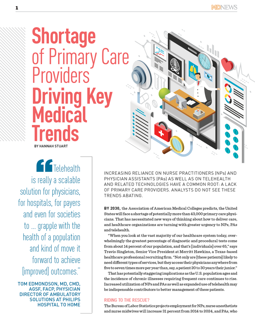 Shortage of Primary Care Providers Driving Key Medical Trends by Hannah Stuart for True North Custom